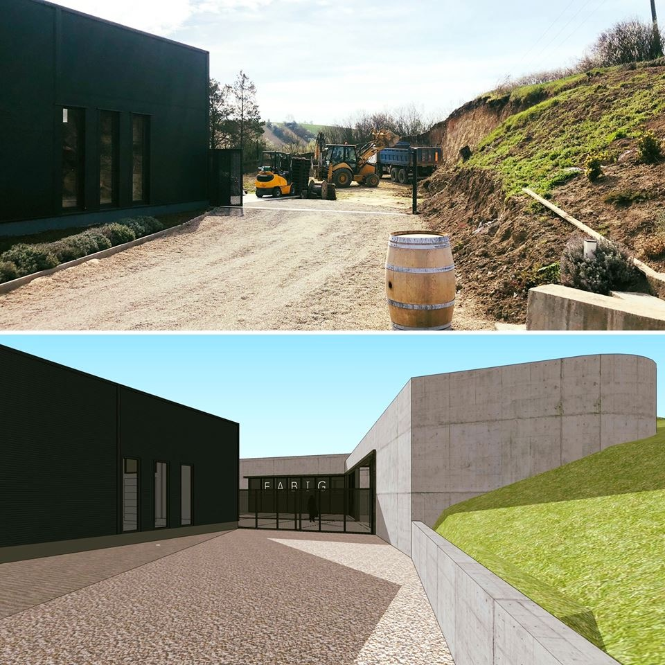 New building of the winery
